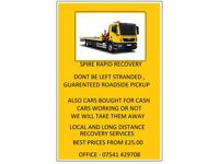 Scrap cars bought for cash breakdown service from £25 MOT failure need to work