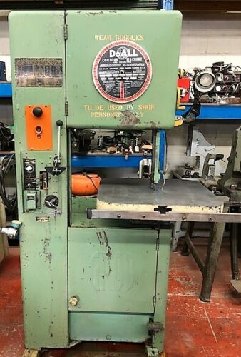 DOALL GROB BROTHERS VERTICAL SAW MODEL NS 18 WITH BLADE WELDER 115 VOLTS