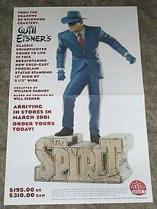 17-x-11-Will-Eisner-The-Spirit-Statue-DC-Direct-Comics-promo-poster