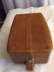 Vintage Men's Leather Shaving Bag