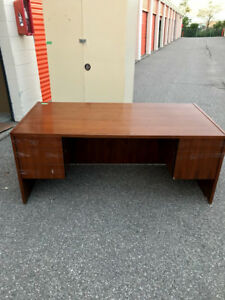 Office Desk With 3 Drawers And Box/File, Great Condition!