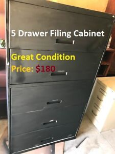 TU>>5 Drawer Lateral Filing Cabinet, Great Condition!