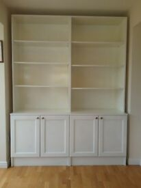 WELL MADE LARGE BOOKCASE IN WHITE