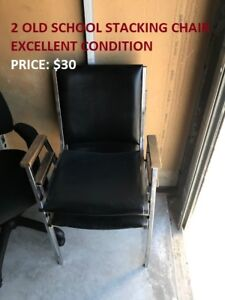 2 Old School Stacking Chair, Cheap Price!