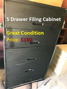 5 Drawer Lateral Filing Cabinet, Great Condition, Cheap Pric
