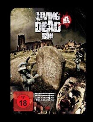 Night Flight & Return of the LIVING DEAD Steelbook 4 Movie DVD Zombie BOX Neu