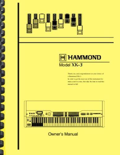 HAMMOND XK-3 XK3 Organ OWNER