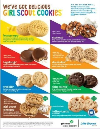 2021 Girl Scout Cookies Are Here! - 8 flavors to choose from - (FREE SHIPPING)