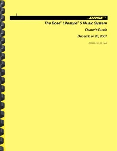 Bose Lifestyle 5 Music System OWNER