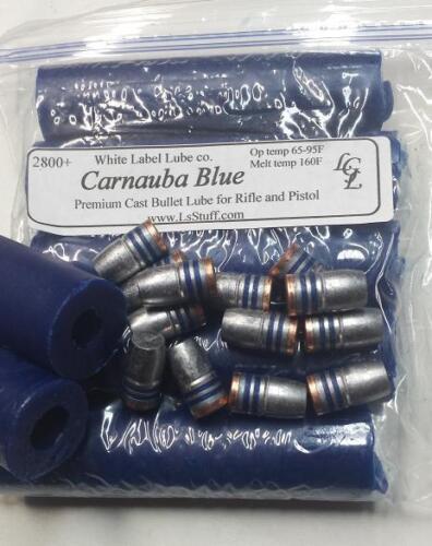 5 Sticks Carnauba Blue Cast Bullet Lube 2800fps White Label Lube  FREE SHIPPING