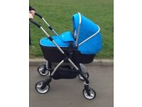 Silvercross wayfarer blue travel system, excellent condition £220 ONO, inc car seat and isofix base