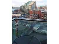 Available now - Super, light-filled, spacious 2 bedroom/2 bath flat close to Northern Quarter.