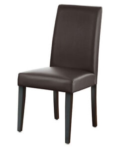 New Brown Faux Leather Dining Chair