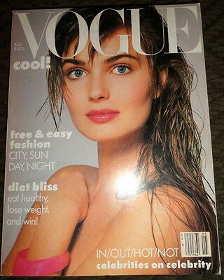 Vtg Vogue 1985 Ashley Richardson Estelle Lefebure Whitney Houston Cindy Crawford