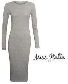 New Grey Jersey Bodycon Dress