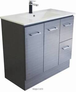 900 Grey Vanity Cabinet & Ceramic Top - Now Available Paradise Campbelltown Area Preview