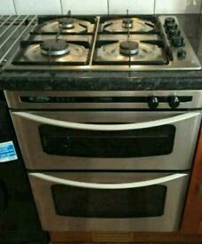 GAS HOB AND GAS DOUBLE OVEN