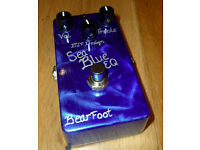 Bearfoot FX Sea Blue EQ / Boost / Pre-amp guitar pedal - Boxed as new.