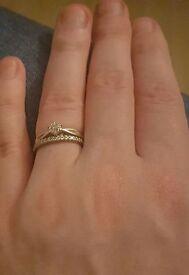 White Gold Ring size J