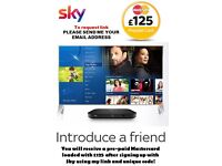 Sky Q & £125 Cash Bonus with with my recommendation - please send me your email address and name