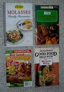 4 Cookbooks : Casseroles,Molasses,Sweet&Simple,Miracle Whip