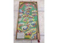Vintage Grand Prix Bagatelle Board Game Pinball Home - c1950s/60s