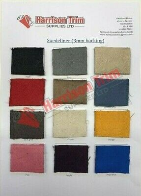 Suedeliner Van lining material foam backed faux suede seating vw camper SAMPLE