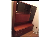 FREE glass cabinet with lighting!