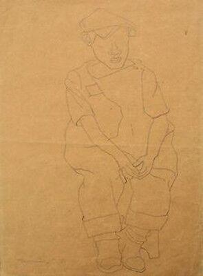 RUFINO TAMAYO Signed 1934 Original Drawing - RARE