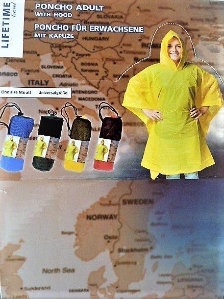 4 Farben Regenponcho Regencape Fahrrad Jacke Regenschutz Rain Cape Herren Damen
