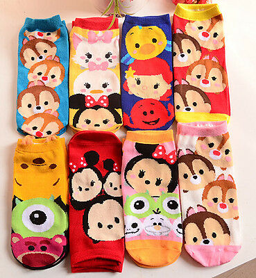 Lot 50 pairs TSUM mickey mix Ladies Girls Cotton Anklet Socks Great Xmas Gifts