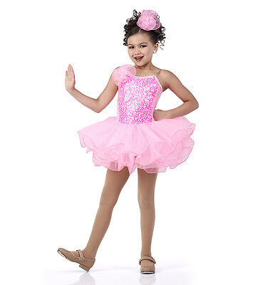 Cotton Candy Costumes (Cotton Candy Dance Costume Pink Pearl Sequin Princess Ballet Tutu Child)