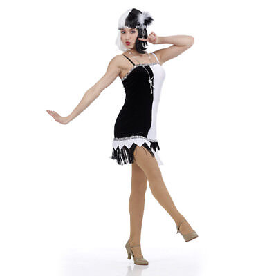 Adult XL Cruella Charleston Flapper Dance Costume Dress Halloween Tap Jazz - Halloween Jazz Dance