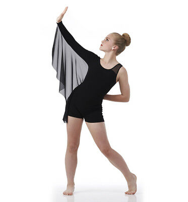 Adult 3XL color BLACK Contemporary Ballet Dance Costume Lyrical Boy Short
