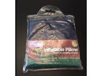 BNIB Kingfisher Inflatable Pillow For Camping Travel Soft Blow Up Air