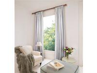 Cotton eyelet curtains - blackout lining and wonderful fabric