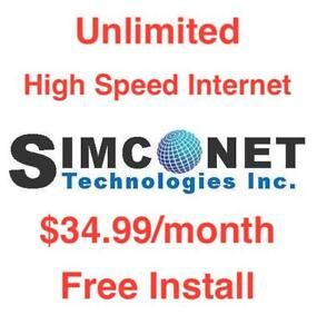 $34.99 Unlimited High Speed Internet, $0 Install $0 Dry Loop