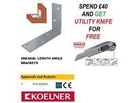 Corner Brace Angle Bracket Zinc Plated Various Sizes High Quality