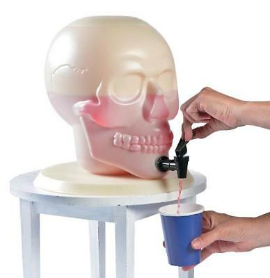 Halloween Haunted House Party Skull Shaped Drink Dispenser Holds 2 Gallons - Drinks Halloween