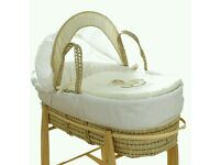 Kinder valley Cream my little rocker moses basket. Come 3 colours. Brand new in sealed packs.