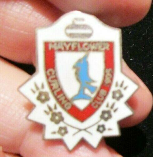 Vintage Curling Pin, Mayflower Curling Club