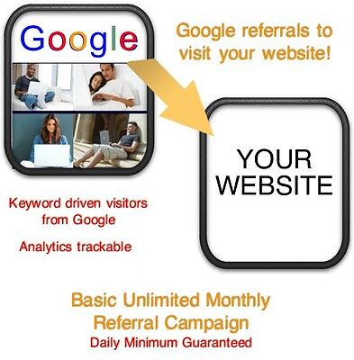 Website Visitors- 30 Days12000 Google Referralsvisitors To Your Website