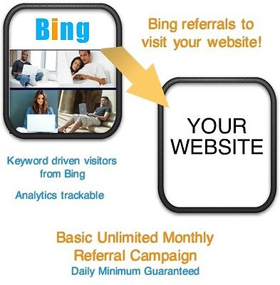 Website Visitors- 15 Days6000 Bing Referralsvisitors To Your Website