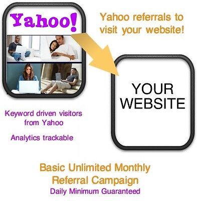 Website Visitors- 15 Days6000 Yahoo Referralsvisitors To Your Website