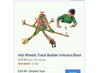 Hot wheels track builder volcano blast