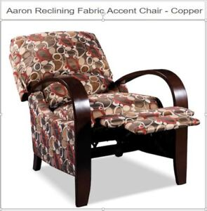 Aaron Reclining Fabric Accent Chair – Copper