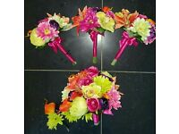 Wedding Flowers Artificial 1 Bridal 3 Bridesmaid 3 Button Holes