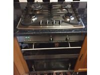 Baumatic stainless steel double oven gas cooker and grill