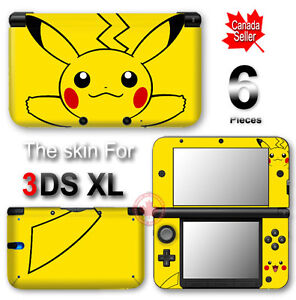 Pokemon pikachu classic new vinyl skin sticker decal cover for 3ds xl pikachu achat
