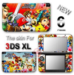 Super smash bros mario zelda pokemon new skin sticker for Coque 3ds xl pokemon